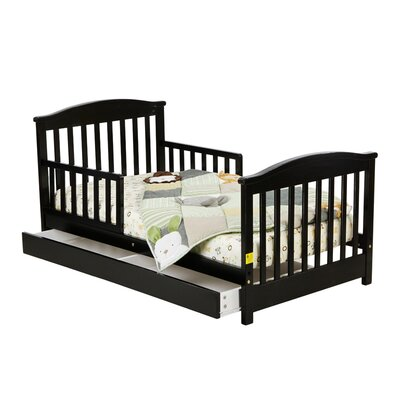 Kids   Storage on Mission Toddler Bed With Storage Drawer In Black
