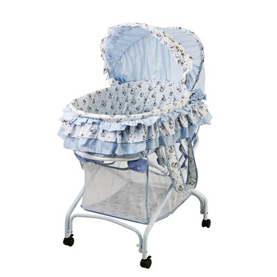 Dream On Me 2 in 1 Bassinet to Cradle in Light Blue 440-LB