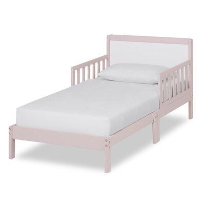 Brookside Toddler Platform Bed Bed Frame Color: Blush Pink/White