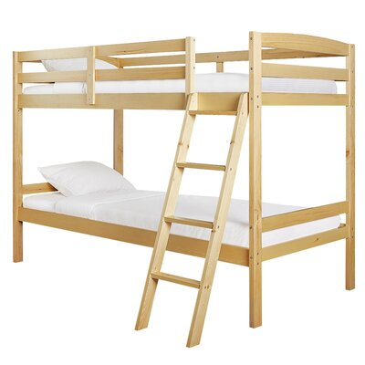 Taylor Twin over Twin Bunk Bed Bed Frame Color: Natural