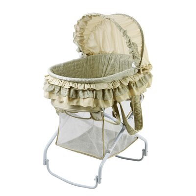 Dream On Me 2 in 1 Bassinet to Cradle in Green 440-G