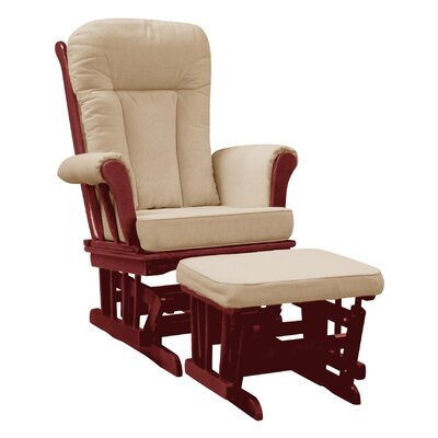 Dream On Me Mission Padded Glider and Ottoman - Color: Cherry Glider / Beige Cushion at Sears.com