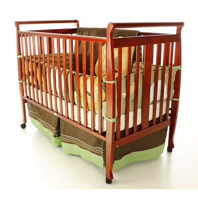 Bella Sleigh Convertible Crib Finish: Cherry 677-C
