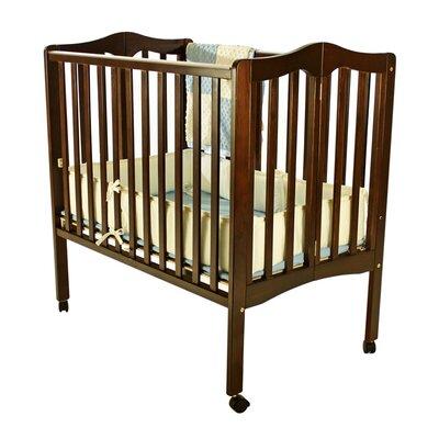 Portable Lightweight Folding Convertible Crib Finish: Espresso 681-E