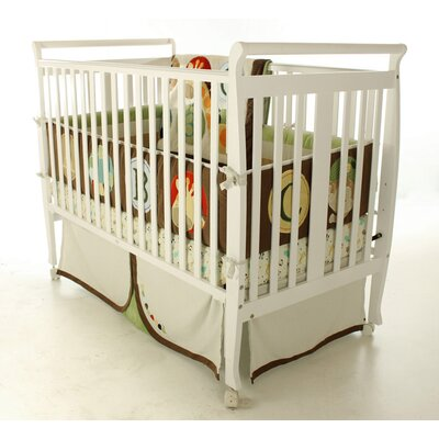 Bella Sleigh Convertible Crib Finish: White 677-W