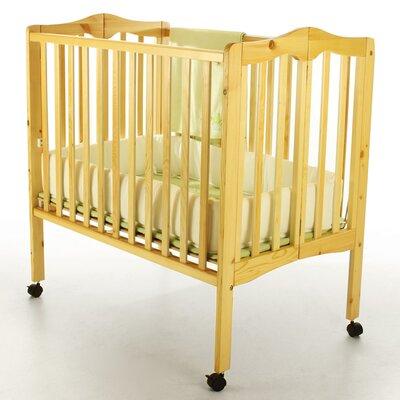 Dream On Me Portable Lightweight Folding Convertible Crib - Finish: Natural