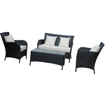 Prosper 4 Piece Outdoor Patio Sofa Set