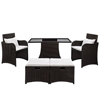 Artesia 5 Piece Deep Seating Group with Cushions