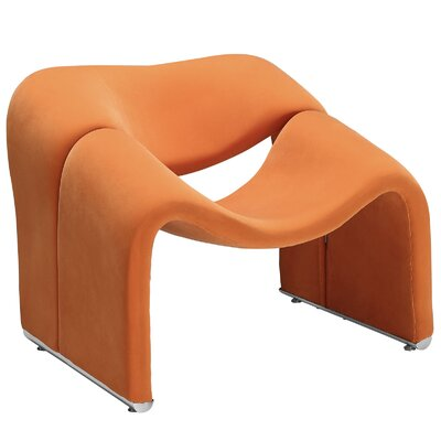 Cusp Lounge Chair Upholstery: Orange