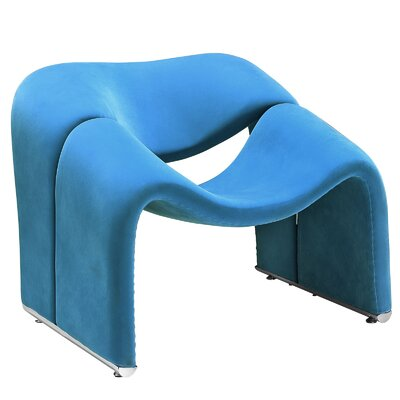 Cusp Lounge Chair Color: Blue