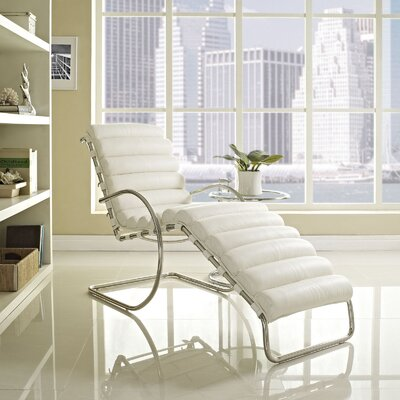 Ripple Chaise Lounge Upholstery: White