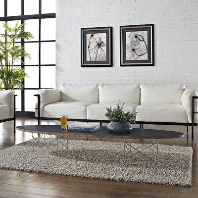 Surfboard Coffee Table Top Color: Black