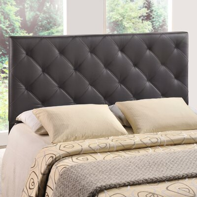 Theodore Queen Upholstered Panel Headboard Upholstery: Brown