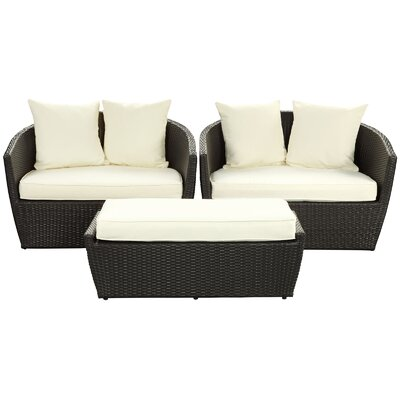 Fountain 3 Piece Deep Seating Group with Cushions