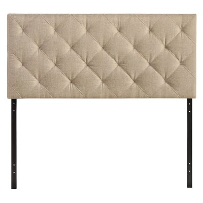 Theodore Queen Upholstered Panel Headboard Upholstery: Beige