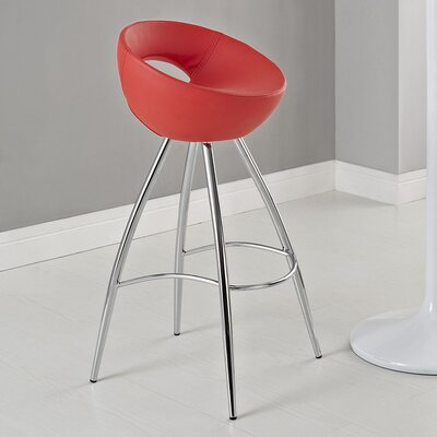 Persist 28 Bar Stool Upholstery: Red