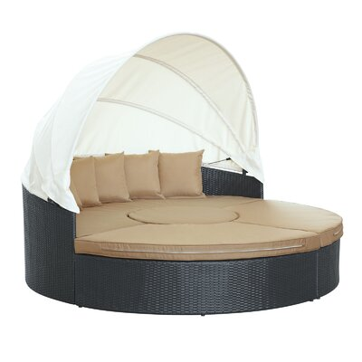 Quest Canopy Daybed Seating Group with Cushions Fabric: Mocha