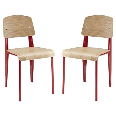 Dunkelberger Modern Side Chair Frame Finish: Red