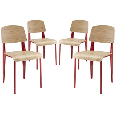 Cabin Side Chair Frame Finish: Red