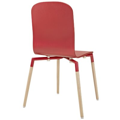 Stack Solid Wood Dining Chair Color: Red