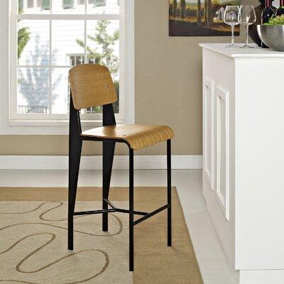 Dunkelberger 26.5 Bar Stool Upholstery: Walnut