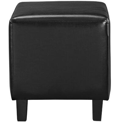 Lodge Ottoman Upholstery: Black