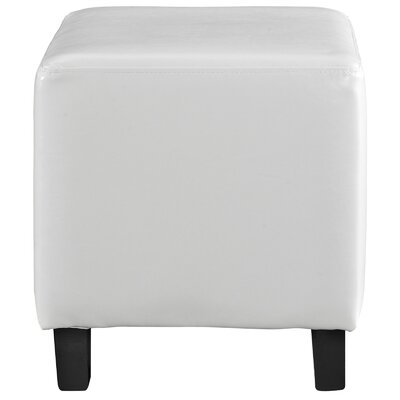 Lodge Ottoman Upholstery: White