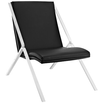 Swing Lounge Chair Color: Black