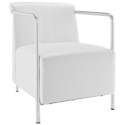 Ebb Vinyl Arm Chair Color: White