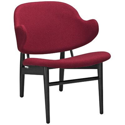 Suffuse Lounge Chair Color: Black / Red