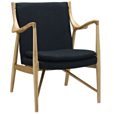 Makeshift Upholstered Armchair Color: Birch/Black