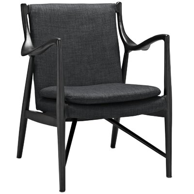 Makeshift Upholstered Armchair Upholstery: Black/Gray
