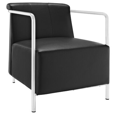 Ebb Vinyl Armchair Color: Black