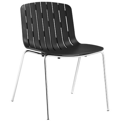 Trace Side Chair Upholstery: Black