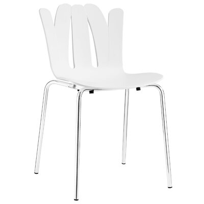 Taryn Side Chair Upholstery: White