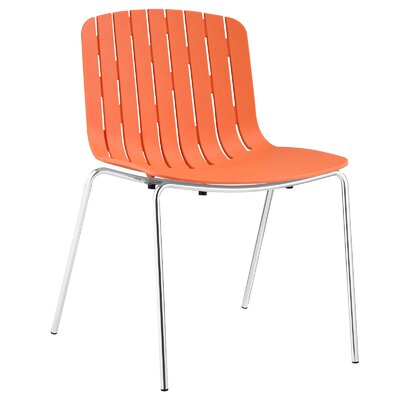 Trace Side Chair Upholstery: Orange