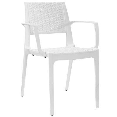 Astute Arm Chair Color: White