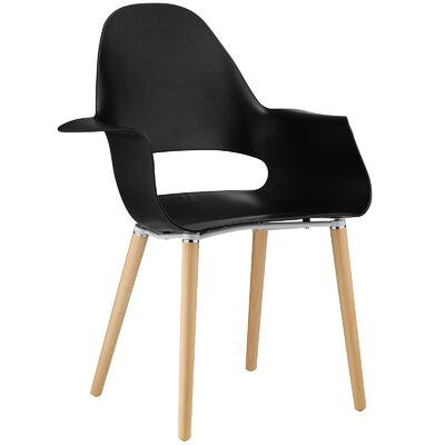 Soar Arm Chair Upholstery: Black