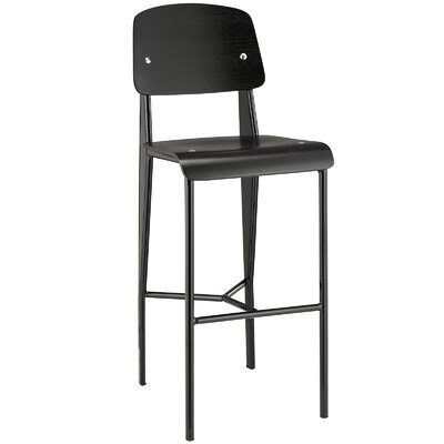 Dunkelberger 29 Bar Stool Upholstery: Black