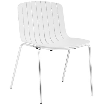 Trace Side Chair Upholstery: White