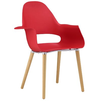 Soar Arm Chair Upholstery: Red