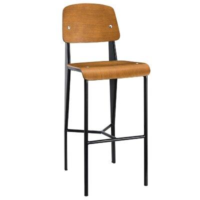 Dunkelberger 29 Bar Stool Upholstery: Walnut
