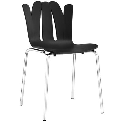 Flare Side Chair Upholstery: Black