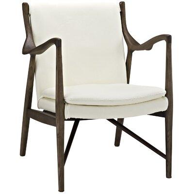 Makeshift Lounge Chair Upholstery: Walnut/Cream