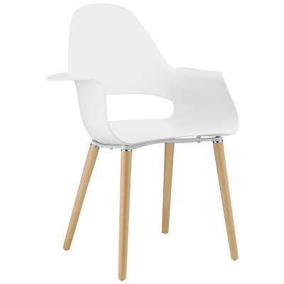 Soar Arm Chair Upholstery: White