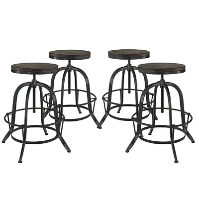Collect Adjustable Height Bar Stool Color: Black