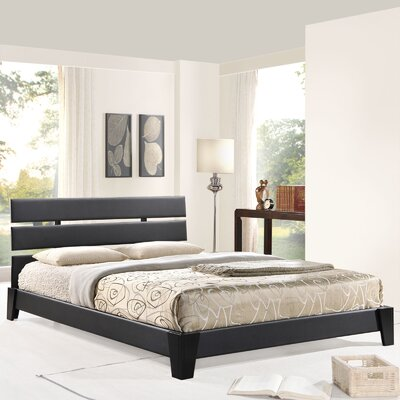 Zoe Upholstered Platform Bed Size: Full, Upholstery: Black