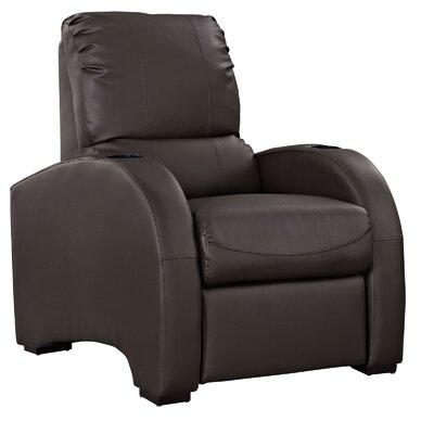Coach Recliner Upholstery: Dark Brown