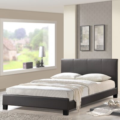 Alex Full/Double Upholstered Platform Bed Upholstery: Brown