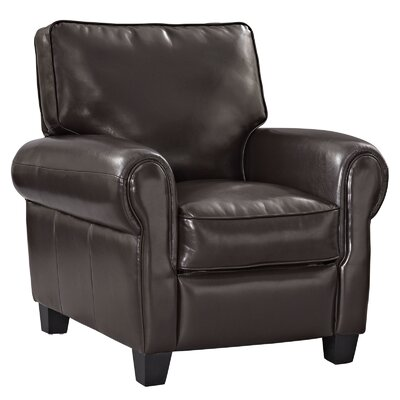 Leader Recliner Upholstery: Brown